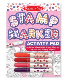 Melissa & Doug Stamp Markers And Activity Pad - Multi Color