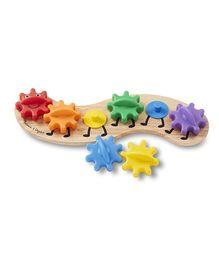 Melissa & Doug Wooden Caterpillar Gears Toddler Toy - 6 Pieces