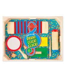 Melissa & Doug Band In A Box Drum Click Clack - Multicolor