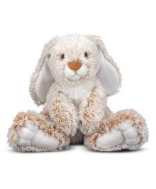 Melissa & Doug Bunny Stuffed Animal White Brown - 30 cm