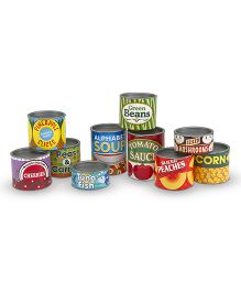 Melissa & Doug Let's Play House Grocery Cans - 10 Pieces