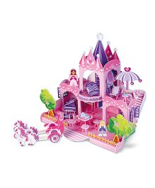 Melissa & Doug Palace 3D Puzzle & Dollhouse Pink Purple - 100 Pieces