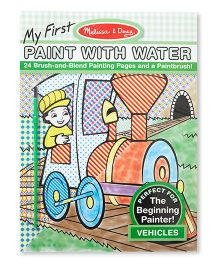 Melissa & Doug My First Paint Vehicles Book With Water - 24 Pages