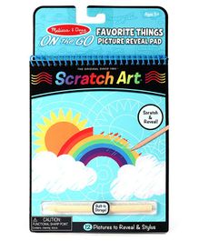 Melissa & Doug On The Go Favourite Things Scratch Art Hidden Picture Pad - 12 Pages