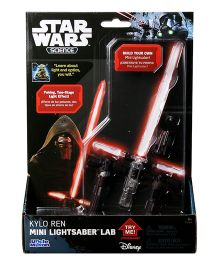 Uncle Milton Star Wars Kylo Ren Mini Lightsaber Lab - Red And White