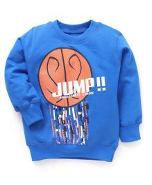 Doreme Full Sleeves Top Basketball Print - Royal Blue