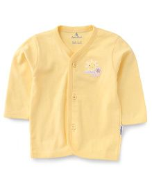 Child World Full Sleeves Sunshine Smiles Print Vest - Yellow