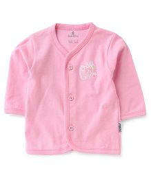 Child World Full Sleeves Cat Print Vest - Pink