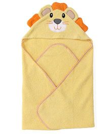 Wonderchild Lion Hooded Baby Towel - Yellow