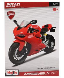 Maisto Die Cast Model Ducati 1199 Panigale Assembly Line Kit - Red