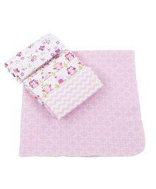 Abracadabra Receiving Printed Blanket - Pink