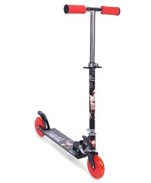 WWE Rock Graphics Two Wheeler Scooter - Red Black