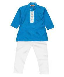 Exclusive from Jaipur Kurta Pajama Set - Blue And White