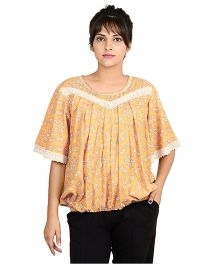 9teenAGAIN Butterfly Sleeves Nursing Top - Light Orange