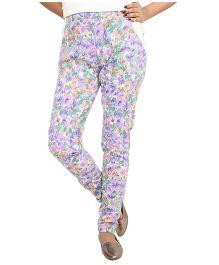 9teenAGAIN Post Maternity Fitted Lycra Pants - Purple