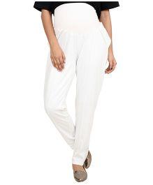 9teen Again Maternity Trouser - White