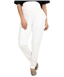 9teen Again Maternity Trouser - White