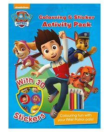 Paw Patrol Coloring And Sticker Pack - English