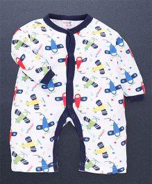 Kidi Wav 3/4Th Flight Print Body Suits - Royal Blue