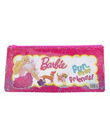Barbie Fun Ever Friends Print Sparkle Pencil Pouch - Pink
