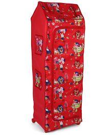 Kids Zone Big Jinny Folding Almirah Lion Print - Red