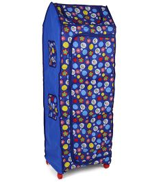 Kids Zone Big Jinny Folding Almirah Wheel Print - Blue