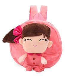 Plush School Bag Doll Design Pink - 9 Inches