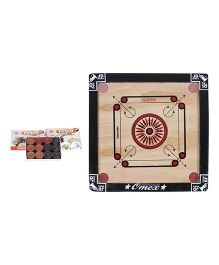 JD Sports New Carrom Board Small With Coins - Cream And Black
