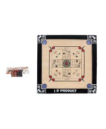 JD Sports 2 In 1 Carrom Board Ludo Small - Cream And Black