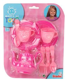 Simba World Of Toys Tea Playset Pink - 9 Pieces