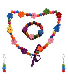 NeedyBee Necklace And Bracelet Set - Multicolor
