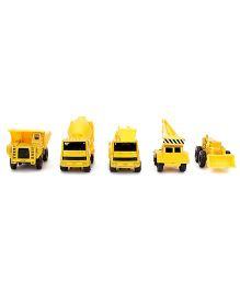 Maisto Metal Kruzers Construction Toys Pack of 5 - Yellow
