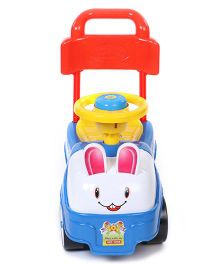 Kids Zone Manual Push Bunny Ride On - Multicolour