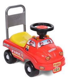 Kids Zone Fire Ride On - Red Yellow