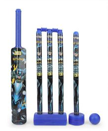 DC Comics Superman Plastic Cricket Set - Dark Blue