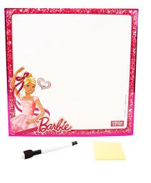 Barbie 2 in 1 Writing And learning board - Pink