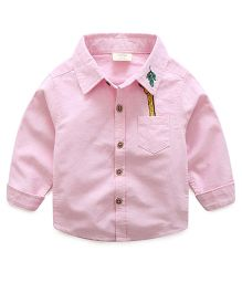Mauve Collection Cartoon Embroidered Shirt - Pink