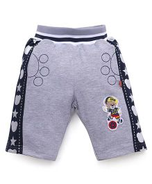 Wow Clothes Shorts Teddy Patch  - Grey Navy Blue