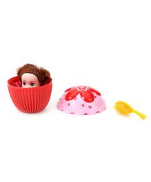 Cupcake Surprise Doll Red Pink - Height 15 cm