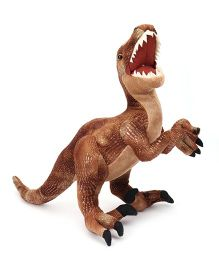 Wild Republic Dinosauria Velociraptor Soft Toy Brown - 43 cm