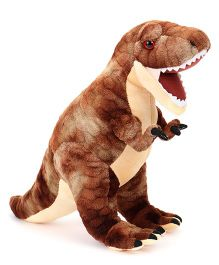 Wild Republic Plush Dinosaur T-Rex Brown - 38 cm