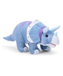 Wild Republic Dinomites Triceratops Soft Toy Blue & White - 38 cm