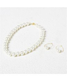 Pihoo Pearl Necklace With Earrings - Off White