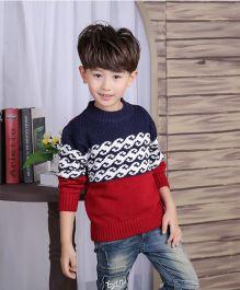 Tickles 4 U Boys Sweater -  Red & Blue