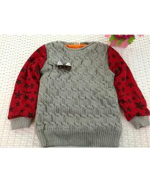 Tickles 4 U Star Printed Sweater -  Grey