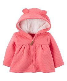 Carter's Sherpa-Lined Full Sleeves Quilted Jacket - Pink