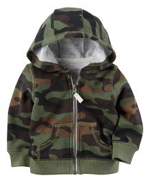Carter's Brushed Fleece Zip-Front Hoodie - Green