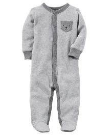 Carter's Terry Snap-Up Sleep & Play - Grey
