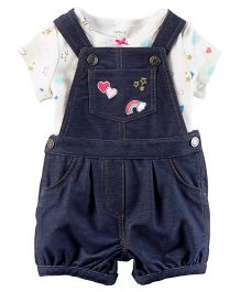 Carter's 2-Piece Tee & Shortalls Set - Blue