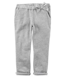Carter's French Terry Bow Pants - Grey